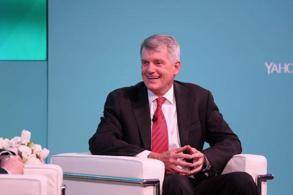 Wells Fargo CEO Tim Sloan on stage