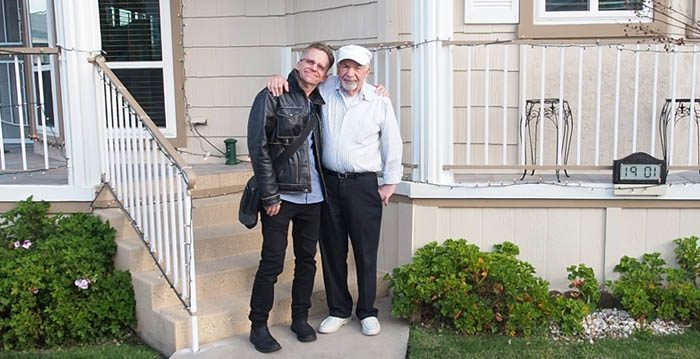 Jack reunited with his long-lost father, Jack L. Farrell. (Courtesy of Brad Berman)