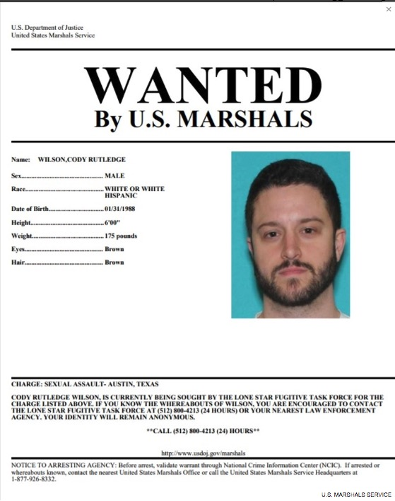 Cody Wilson wanted poster