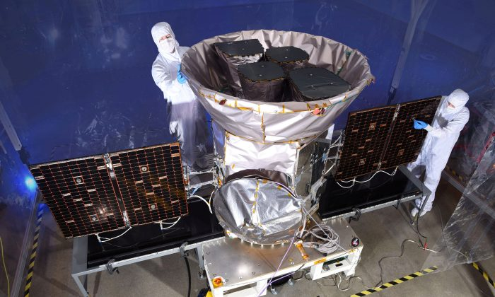 The Transiting Exoplanet Survey Satellite, is shown in this NASA photo obtained by Reuters on March 28, 2018. (NASA/Handout/Reuters)