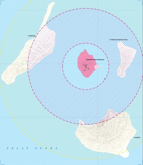 volcanic hazard map
