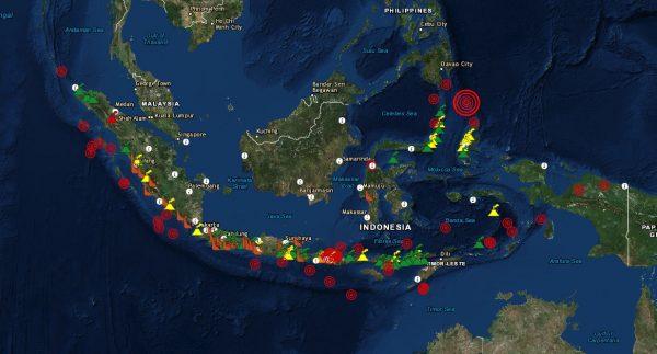 Volcano map Indonesia