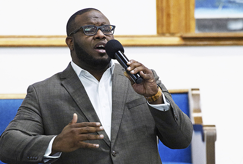 Botham Jean at a Harding University presidential reception