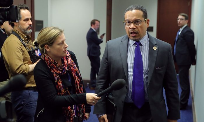 Democratic National Committee Deputy Chair Rep. Keith Ellison at the U.S. Capitol in Washington on Feb. 8, 2018. (Chip Somodevilla/Getty Images)