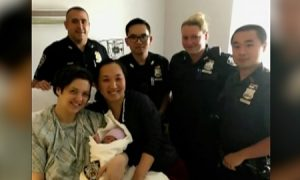 Woman Gives Birth in New York City's Times Square