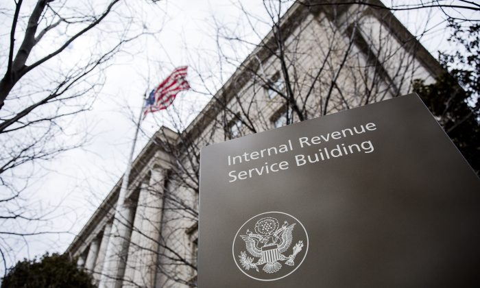 The Internal Revenue Service Headquarters (IRS) Building in Washington on March 8, 2018. (Samira Bouaou/The Epoch Times)