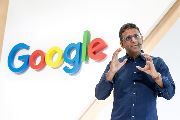 Ben Gomes, Head of Search, speaks at Google Search's 20th Anniversary Event on Sept. 23, 2018 in San Francisco, California. (AMY OSBORNE/AFP/Getty Images)