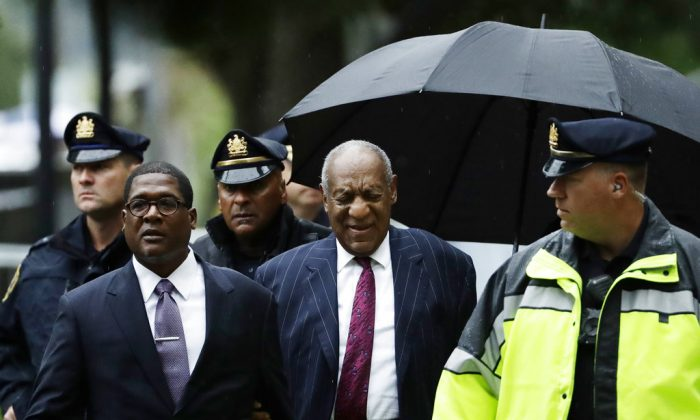 Bill Cosby arrives for his sentencing hearing at the Montgomery County Courthouse, on Sept. 25, 2018, in Norristown, Pa. (Matt Slocum/AP)
