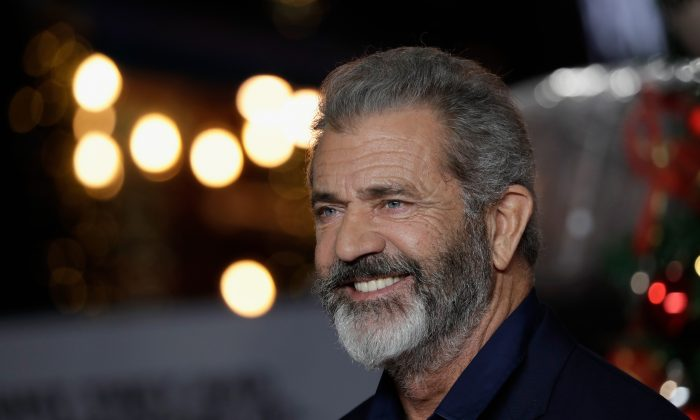 Actor Mel Gibson arrives at the UK Premiere of 'Daddy's Home 2' at Vue West End in London, England on Nov. 16, 2018. (John Phillips/Getty Images)
