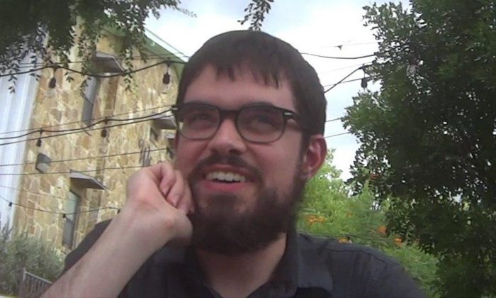 Thomas Sheehy, tax examiner at the Internal Revenue Service and member of the Austin chapter of the Democratic Socialists of America. (Courtesy of Project Veritas)