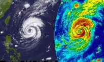 Super Typhoon Trami Explodes in Strength on Its Way to Japan