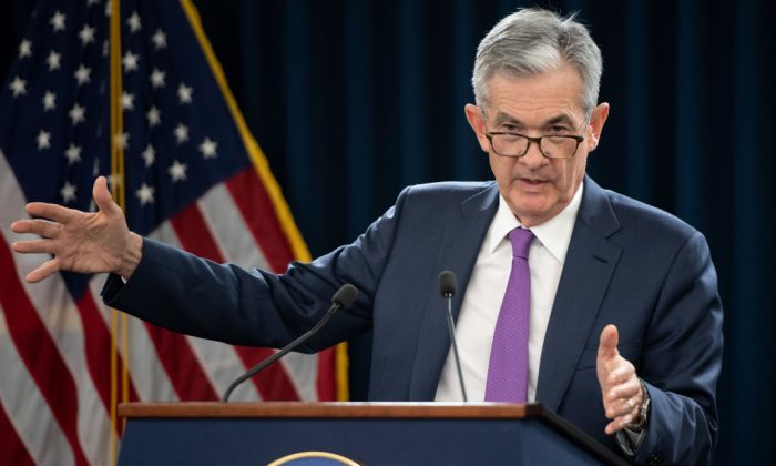 Federal Reserve Board Chairman Jerome Powell speaks during a press conference in Washington, DC, September 26, 2018. (SAUL LOEB/AFP/Getty Images)