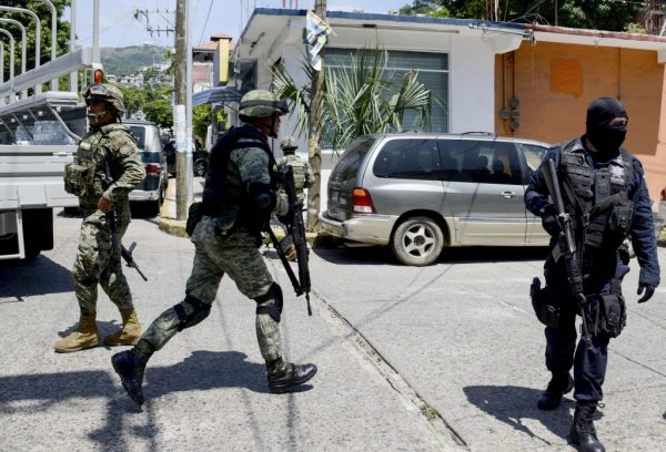 Mexican military during an operation