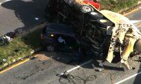 Five Hurt, Including 2 Children, in Car Crash With Dump Truck