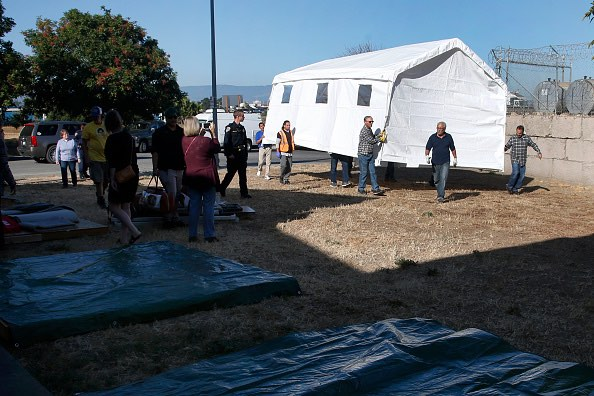 Santa Clara County will lease a parcel of land from the city of San Jose for  Hope Village homeless encampment. (Karl Mondon/Getty Images)