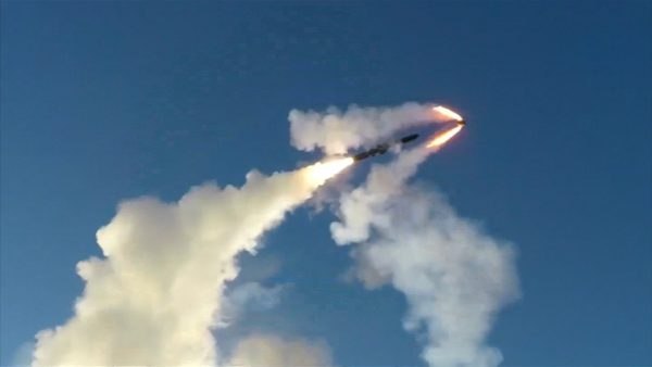 Russian missile fires