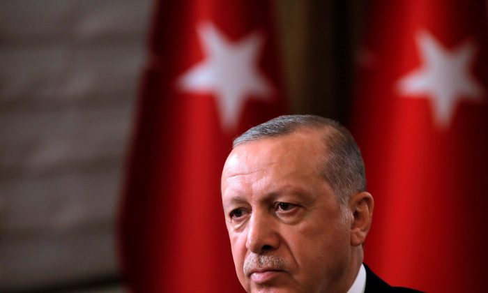 Turkish President Recep Tayyip Erdogan in New York on Sept. 25, 2018. (Reuters/Andrew Kelly)