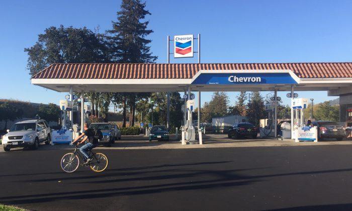 A Chevron gas station in Rohnert Park, Calif., on September 25 (Matthew Kang/Epoch Times)