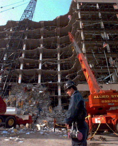 The Murrah Building in April 1995, shortly after the attack.