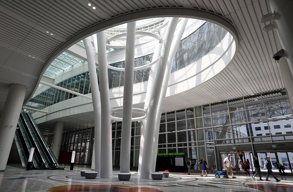 San Francisco's newly opened Salesforce Transit Center will remain closed as a crack found in a steel beam. (Karl Mondon/Bay Area News Group via Getty Images)