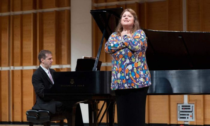 Soprano Allison Charney and pianist Craig Ketter at a PREformance session at Merkin Hall. (Kaufmann Music Center)