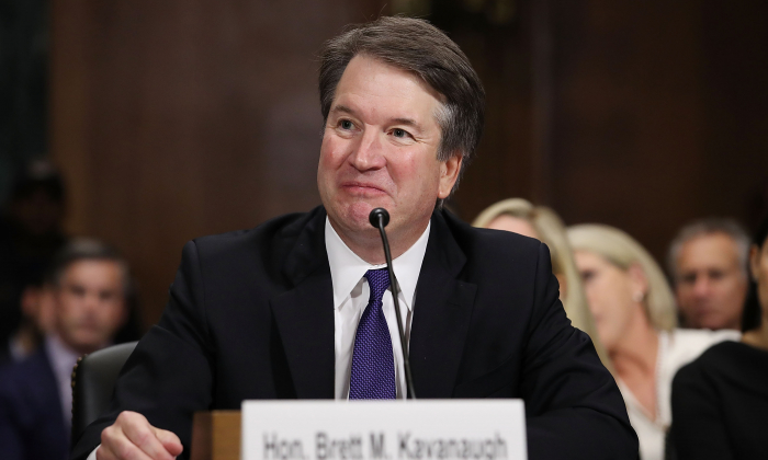 Judge Brett Kavanaugh testifies to the Senate Judiciary Committee during his Supreme Court confirmation hearing in the Dirksen Senate Office Building on Capitol Hill in Washington, DC on Sept. 27, 2018. (Win McNamee/Getty Images)