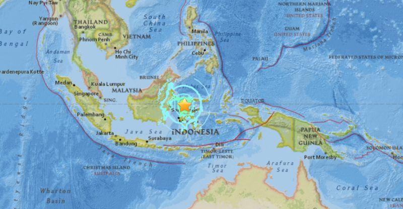 earthquake today in palu indonesia