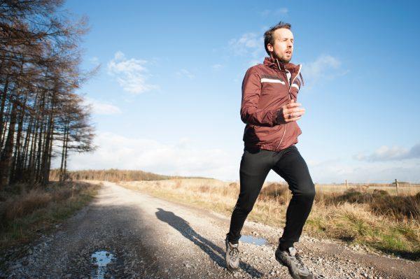 man jogging outside