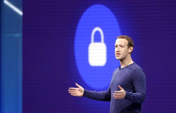 Mark Zuckerberg giving keynote speech