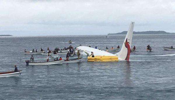 fishing boats plane Air Niugini