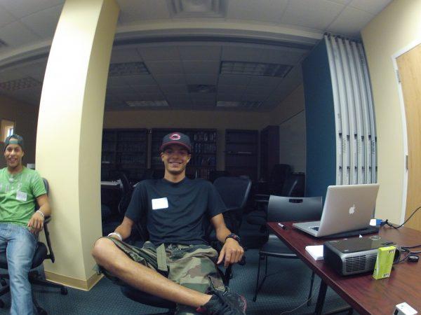 Daniel Aguilar in class