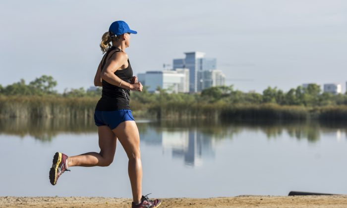 A file photo of a woman jogging in Irvine, Calif. (Courtesy of Destination Irvine)
