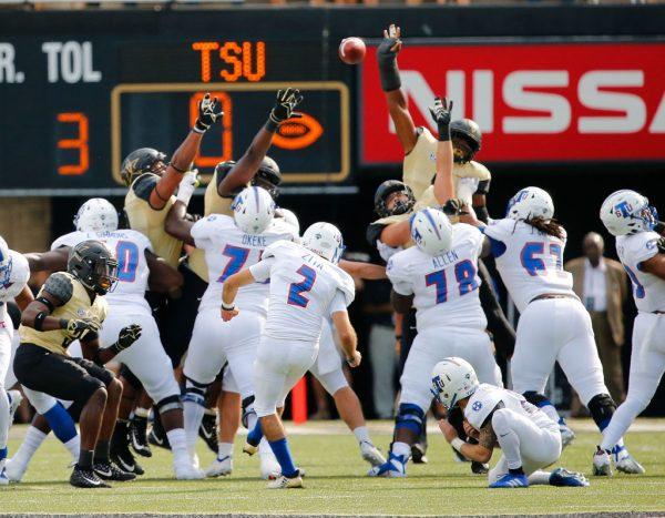 Gameplay TSU against Vanderbilt