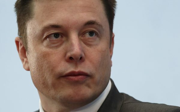 Tesla Chief Musk attends forum