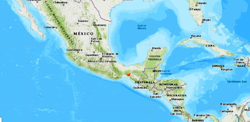 mexico hit by earthquake today