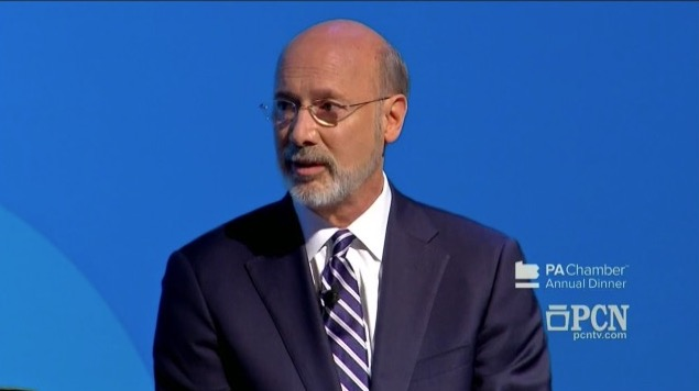 Pennsylvania governor Tom Wolf speaks during the debate on Oct. 1, 2018. (Fox)