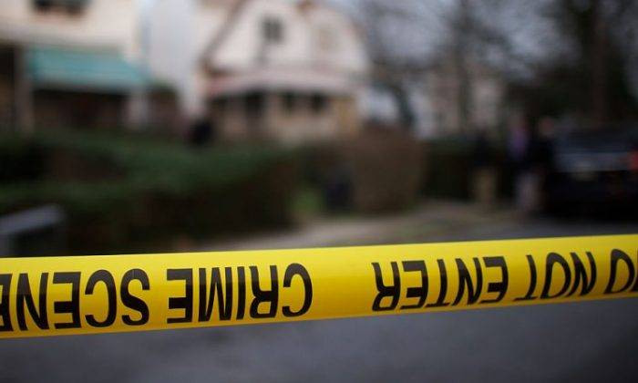 A stock photo of police tape. (Mark Makela/Getty Images)