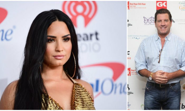 Singer Demi Lovato (L) and CRTV host Eric Bolling. (Emma McIntyre/Getty Images for iHeartMedia (L) Roger Kisby/Getty Images)