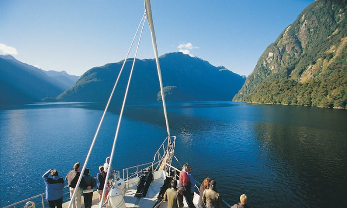 Taking in the views of Doubtful Sound. (Janna Graber)
