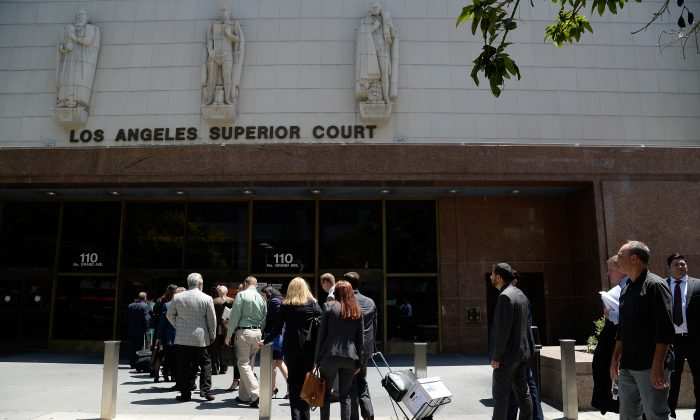 A view outside Stanley Mosk Courthouse in Los Angeles, Calif. on Aug. 9, 2016. (Photo by Kevork Djansezian/Getty Images)