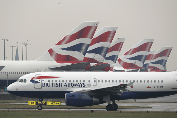 A British Airways plane taxis from Heathrow's Terminal 5 in London, England, on Oct. 25, 2016. (Dan Kitwood/Getty Images)
