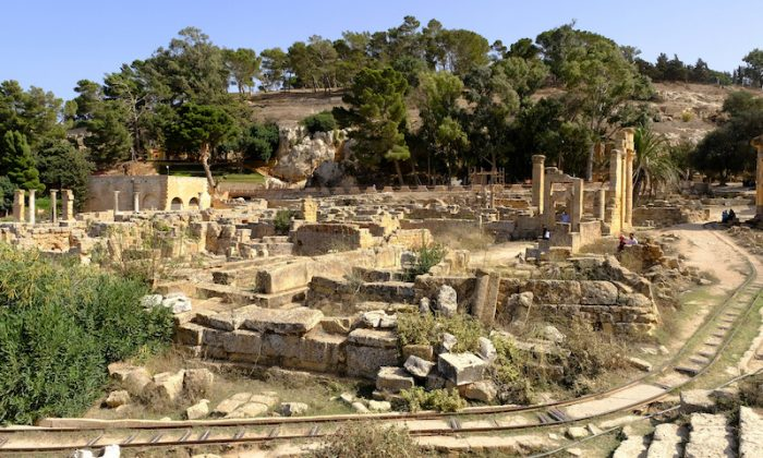 A general view of the ancient ruins of the Greek and Roman city of Cyrene, in Shahhat, Libya Oct.  20, 2018. (Reuters/Esam Omran Al-Fetori)