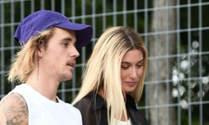 Justin Bieber and Hailey Baldwin attend New York Fashion Week in New York City on Sept. 6, 2018. (Theo Wargo/Getty Images)