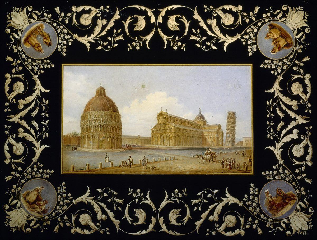 Scagliola Pisa landscape