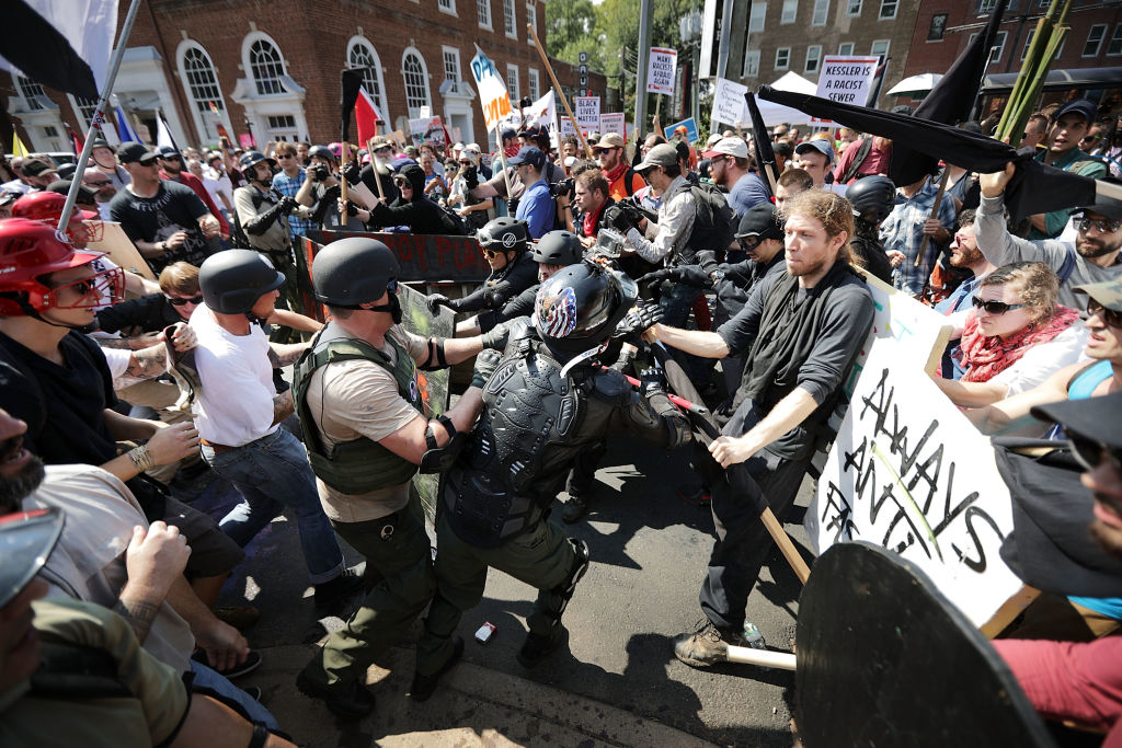 Four charged in connection with Charlottesville rally
