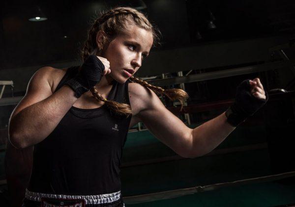 Martina Ptackova kickboxing