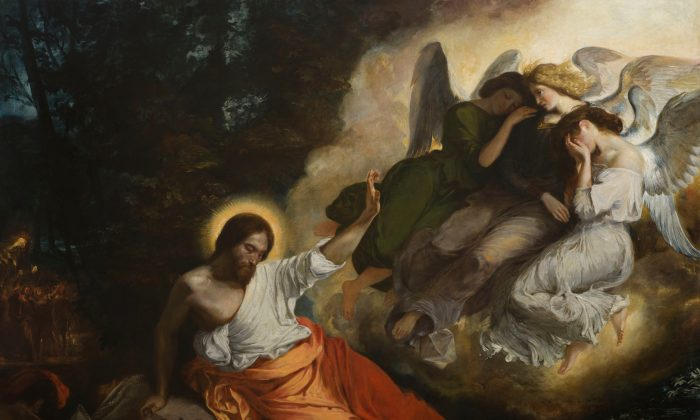 """Christ in the Garden of Olives (The Agony in the Garden),"" 1824–26, by Eugène Delacroix. Oil on canvas. 9 feet, 1 7/16 inches by 11 feet , 3 13/16 inches,  Church of Saint-Paul-Saint-Louis, Paris. (Jean-Marc Moser/COARC/Roger-Viollet)"