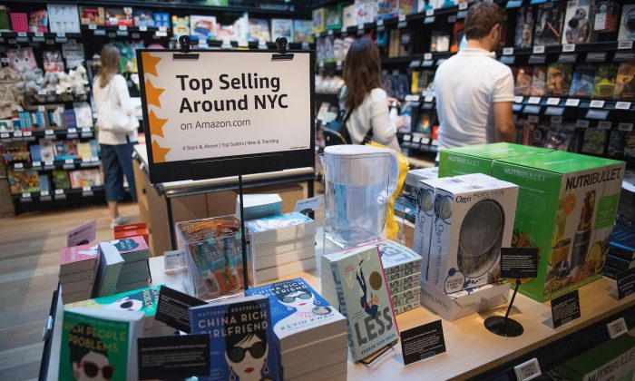 Amazon opens a new store where everything for sale is rated 4 stars and above, is a top seller, or is new and trending on Amazon.com in SoHo neighborhood of New York on September 27, 2018. (Jim Watson/Getty Images)