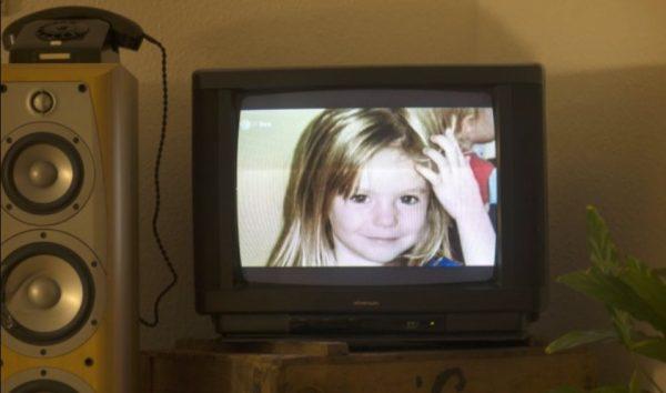 Photo of Madeleine McCann on TV
