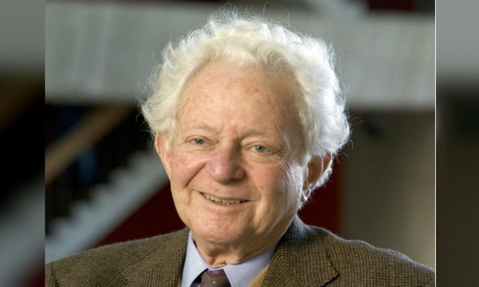 Physics Nobel Prize winner Dr. Leon M. Lederman poses for a photo in Batavia, Ill. (Reidar Hahn, Fermilab via AP, file)